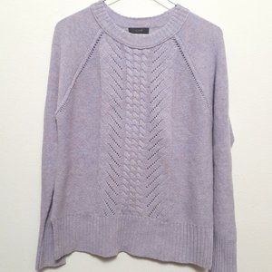 J. Crew Lilac Purple Knit Wool Sweater Small